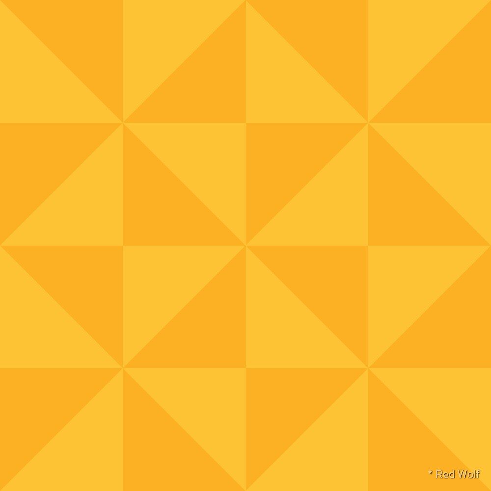 Geometric Pattern: Square Triangle: Dark Yellow by * Red Wolf