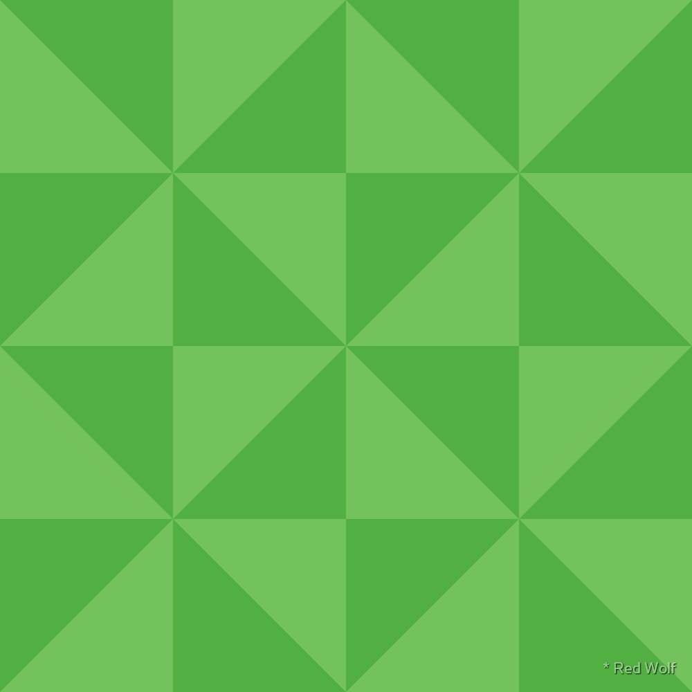 Geometric Pattern: Square Triangle: Dark Green by * Red Wolf
