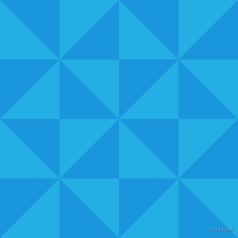 Geometric Pattern: Square Triangle: Dark Blue by * Red Wolf