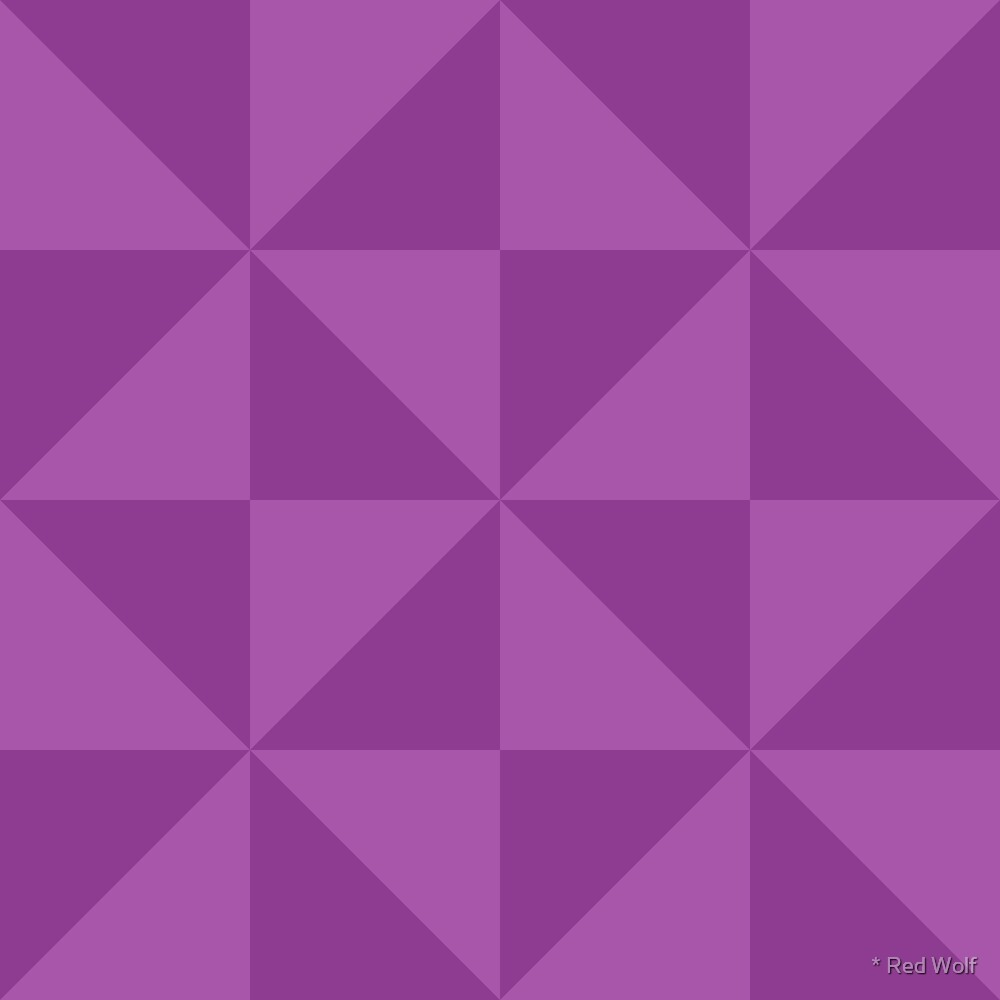 Geometric Pattern: Square Triangle: Dark Purple by * Red Wolf