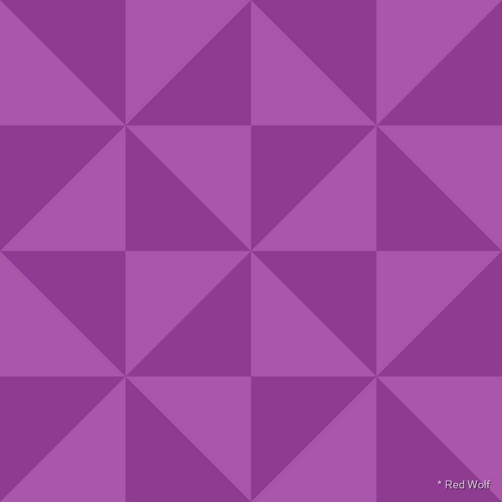 Geometric Pattern: Square Triangle: Dark Purple by * Red Wolf