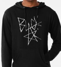 Soul eater - Black Star Signature (White) Lightweight Hoodie