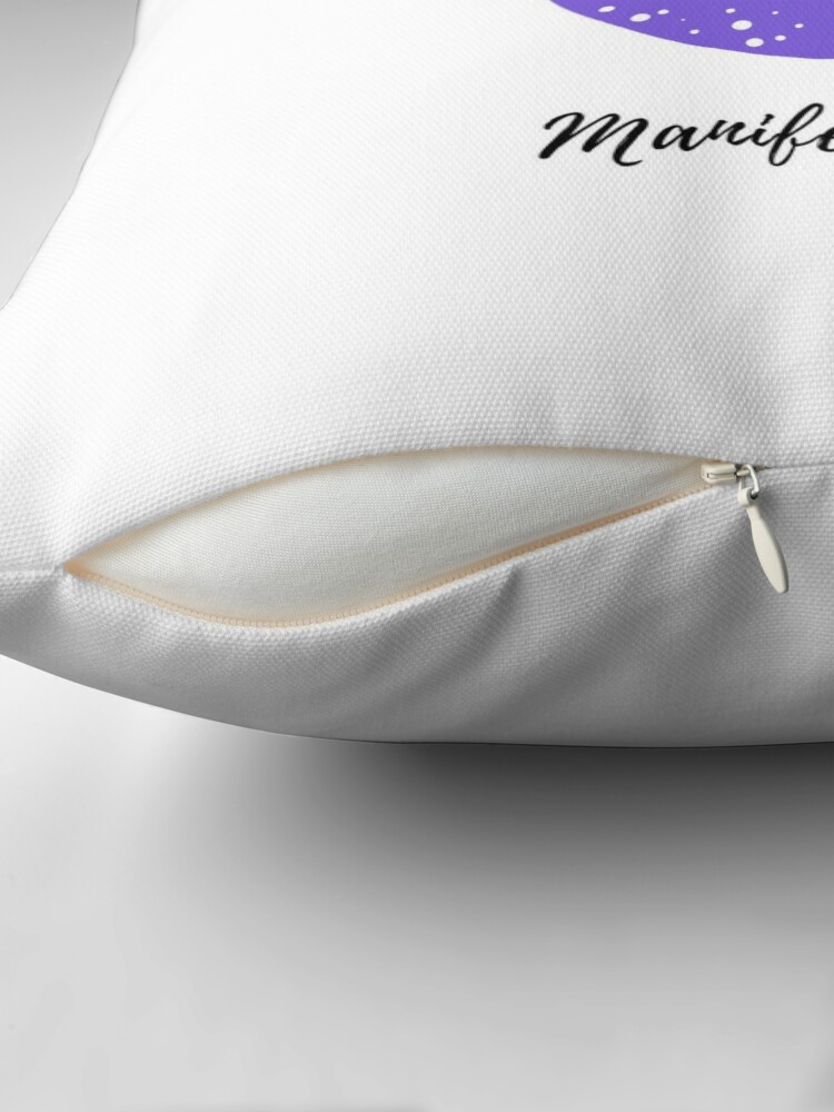 Alternate view of Manifest It! I Receive with Ease White Throw Pillow