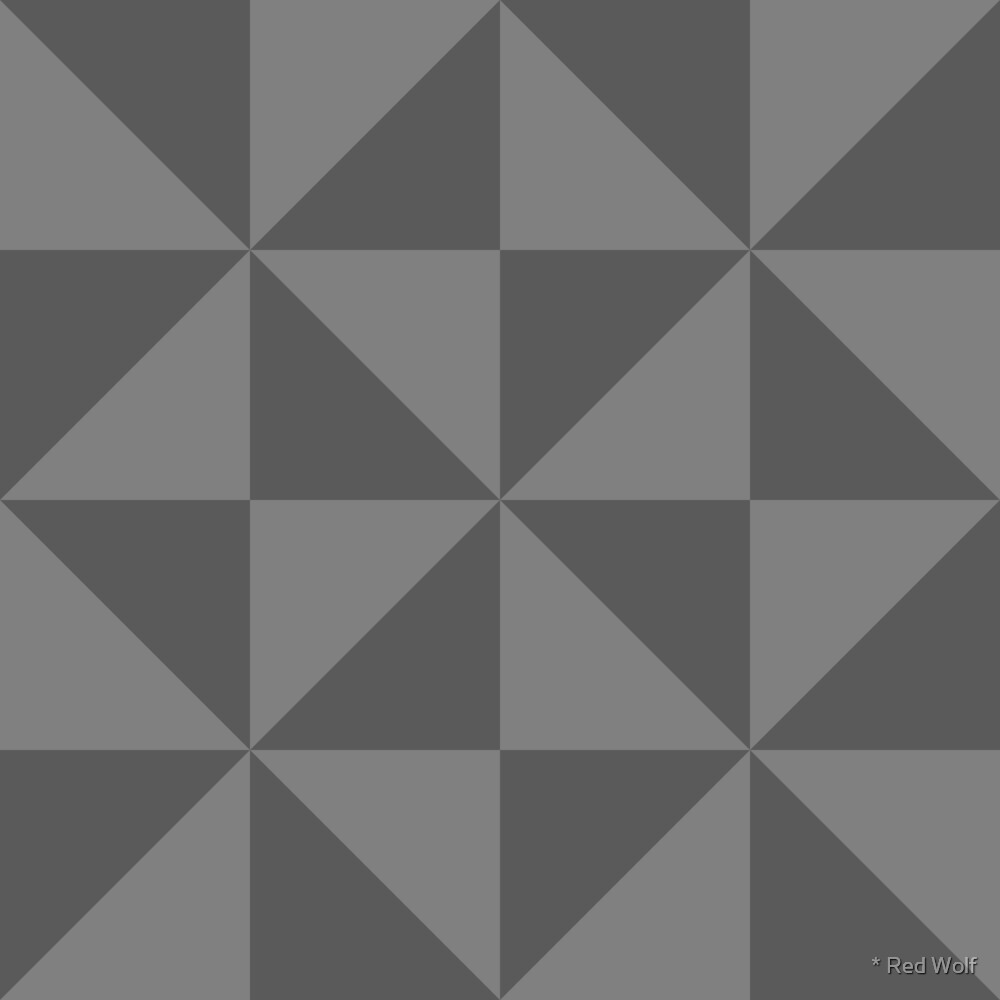 Geometric Pattern: Square Triangle: Monochrome Grey Thunder by * Red Wolf
