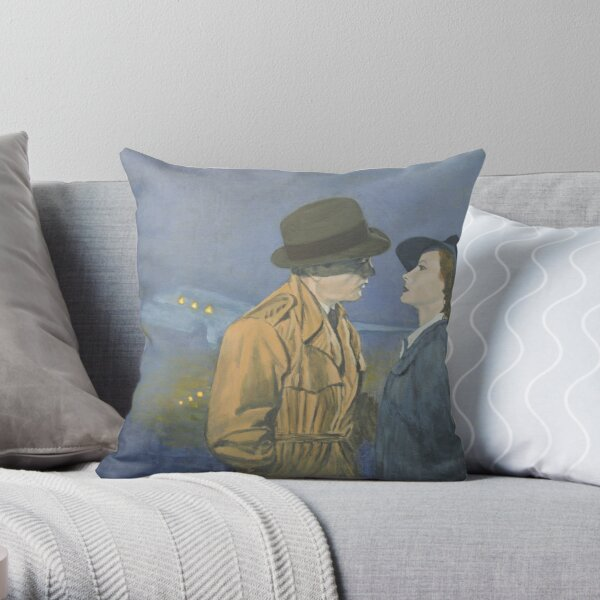 Tribute to Casablanca Throw Pillow