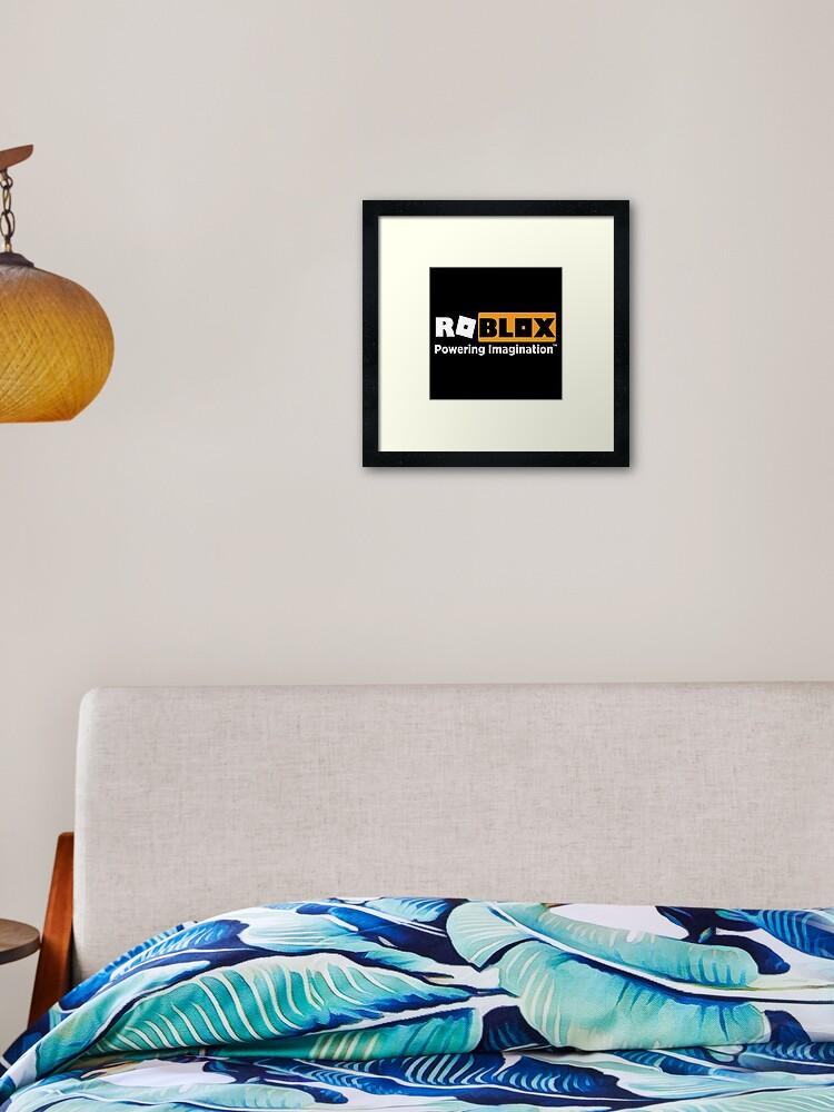 Roblox Logo Swap Meme Framed Art Print By Glyphz Redbubble