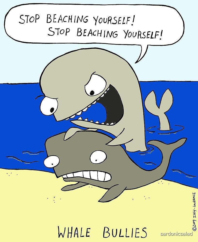 whale bullies by sardonicsalad