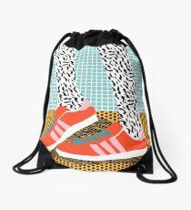 Spiffy - shoes art print memphis design style modern colorful california socal los angeles brooklyn hipster art pattern  Drawstring Bag