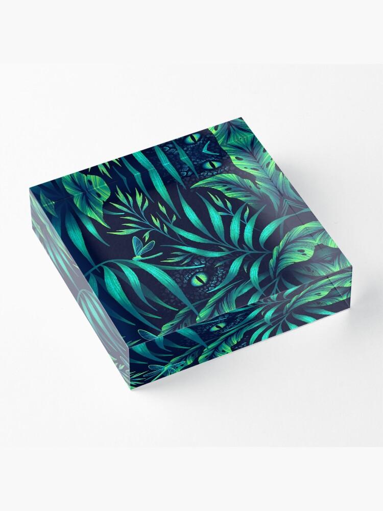 Alternate view of Jurassic Jungle - Emerald Green Acrylic Block