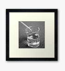 Beaker droplet 2 Framed Print