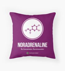 Neurotransmitter Series: Noradrenaline Throw Pillow
