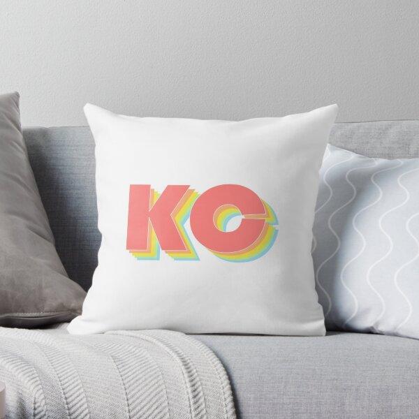 Rainbow Kansas City Throw Pillow