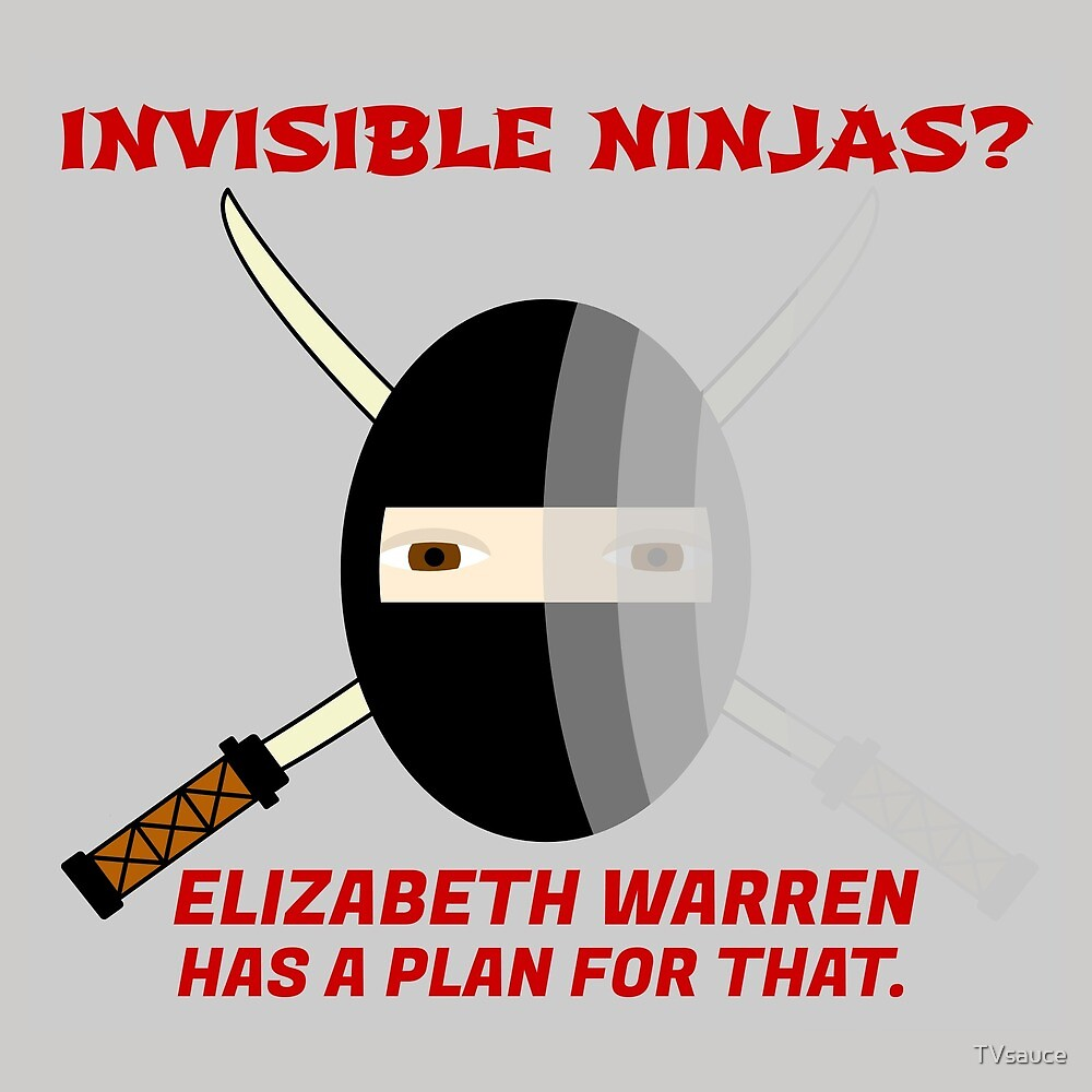 Invisible Ninjas? Elizabeth Warren has a plan for that. by TVsauce