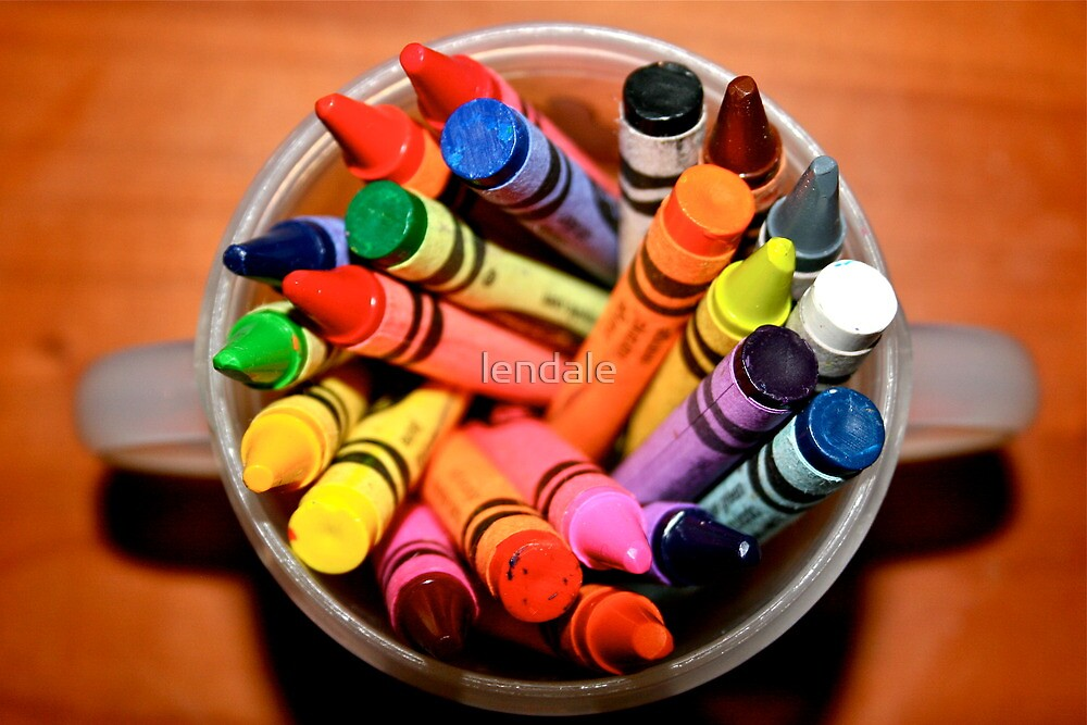 crayons 2 from above by lendale