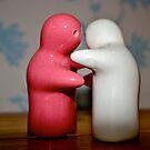 Figures hugging by lendale