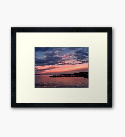 Pink Sunset over Puget Sound Framed Print
