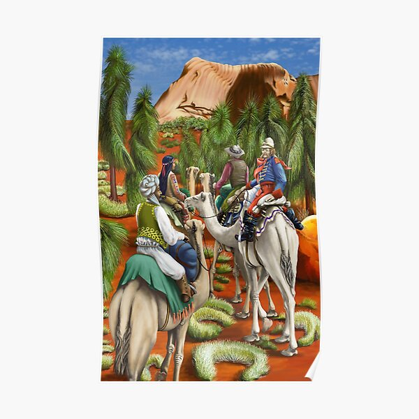 Camel Trek to Uluru by tasmanianartist for Karl May Friends Poster