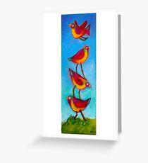 Bird Stack Greeting Card