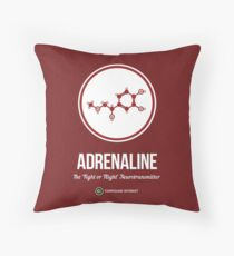 Neurotransmitter Series: Adrenaline Throw Pillow