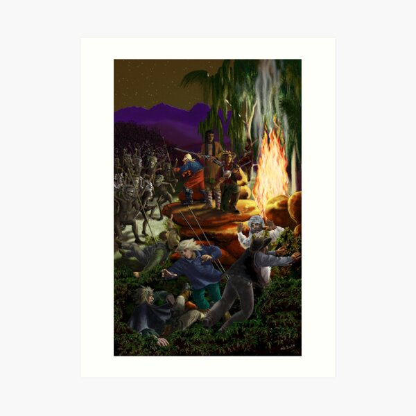 Skirmish at Night by tasmanianartist for Karl May Friends Art Print