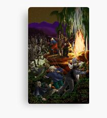 Skirmish at Night by tasmanianartist for Karl May Friends Canvas Print