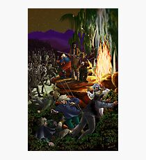 Skirmish at Night by tasmanianartist for Karl May Friends Photographic Print