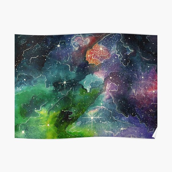 Cosmic canvas stars and space Poster