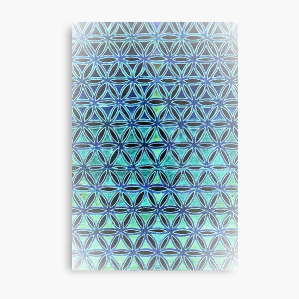 Sacred geometry grid work  Metal Print