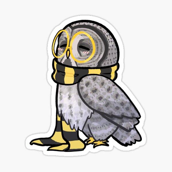 Kind Great Grey Owl with Scarf Sticker