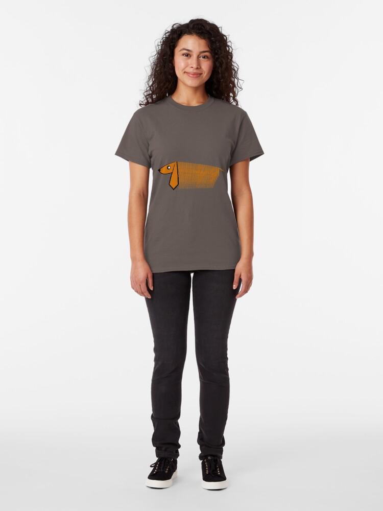 Vista alternativa de Camiseta clásica GALGO AFGANO MUY PARTICULAR