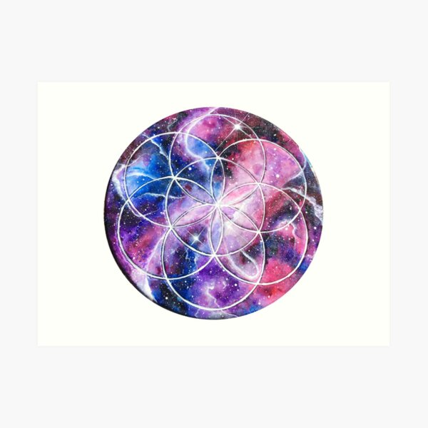Sacred Geometry Seed Of Life  Art Print