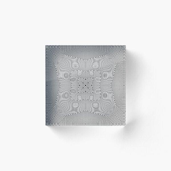 Visual Optical Illusion Acrylic Block