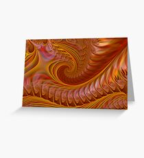 Autumn Waves Greeting Card