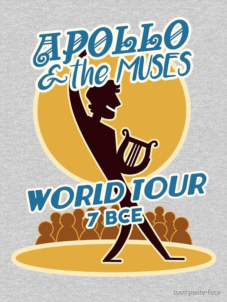 Apollo & the Muses World Tour de toothpaste-face