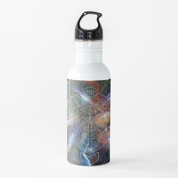 sacred geometry space art Water Bottle