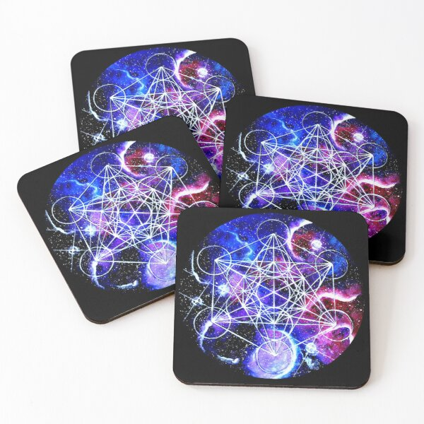 Sacred Geomertry, Metatrons Cube Coasters (Set of 4)
