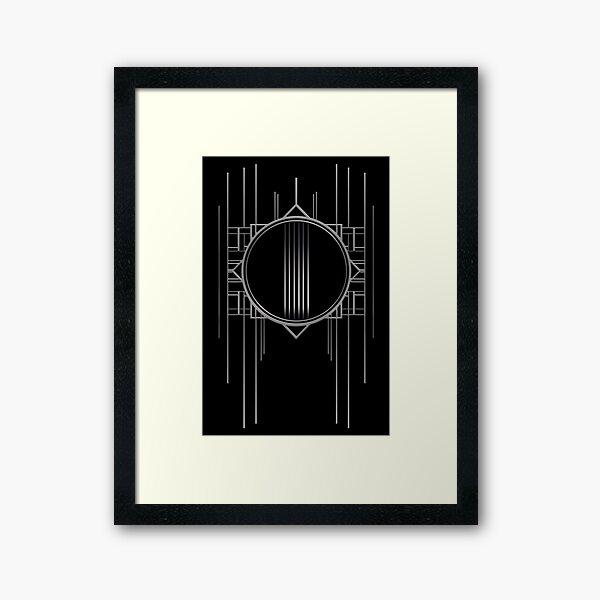 Artdeco Burlesque pattern black and white gift timeless modern and vintage glamorous Framed Art Print