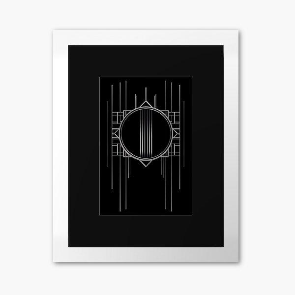 Artdeco burlesque pattern black and white Framed Art Print
