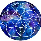 Sacred Geometry Seed Of Life art by Handmaiduns