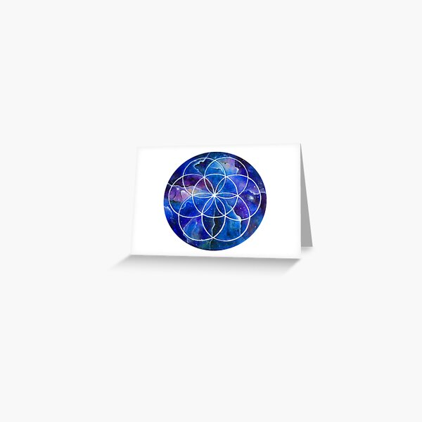Sacred Geometry Seed Of Life art Greeting Card