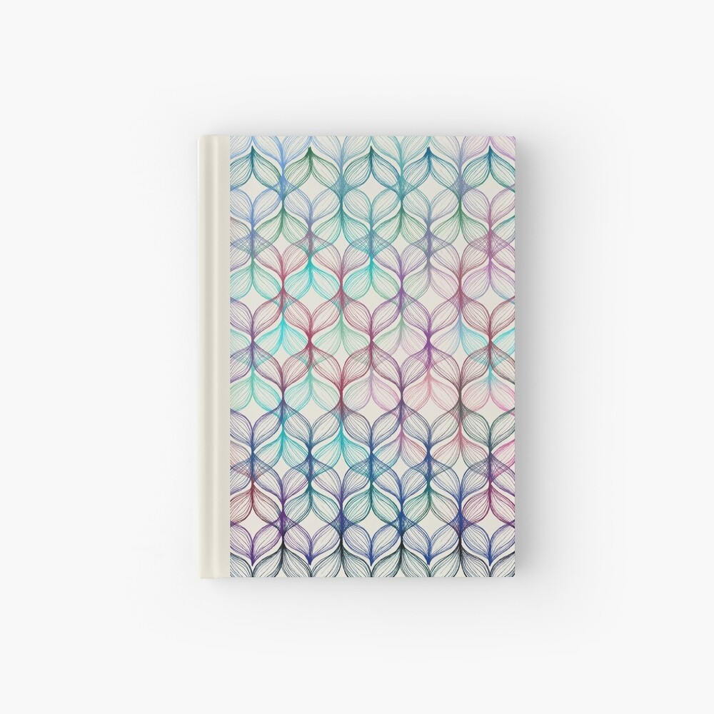 Mermaid's Braids - a colored pencil pattern Hardcover Journal