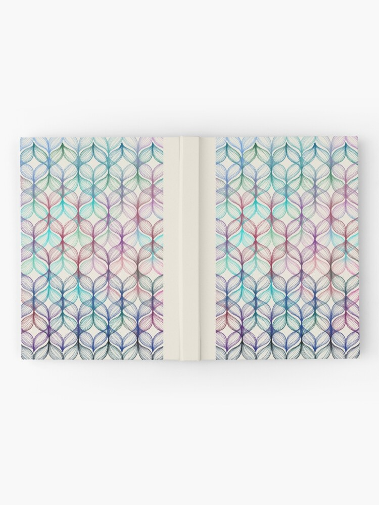 Alternate view of Mermaid's Braids - a colored pencil pattern Hardcover Journal