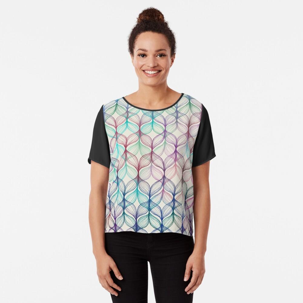Mermaid's Braids - a colored pencil pattern Chiffon Top