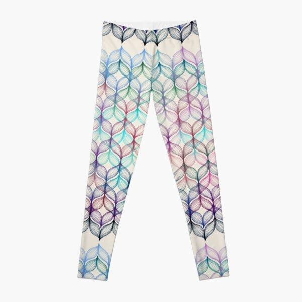 Mermaid's Braids - a colored pencil pattern Leggings