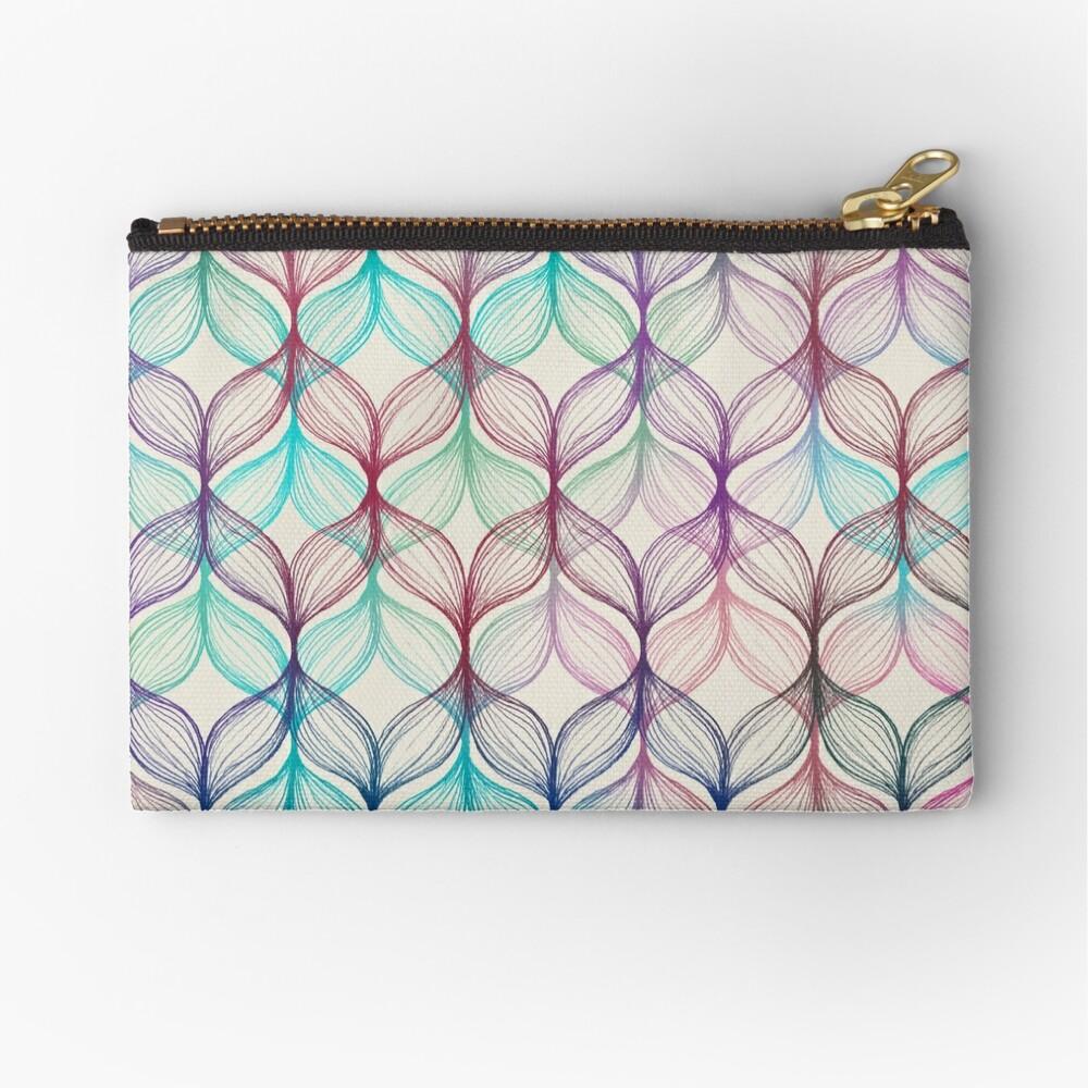 Mermaid's Braids - a colored pencil pattern Zipper Pouch