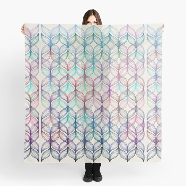 Mermaid's Braids - a colored pencil pattern Scarf