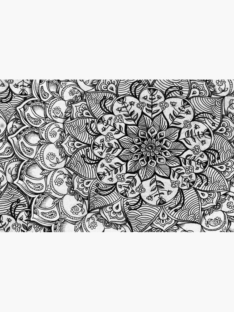 Grautöne - mono floral Doodle von micklyn