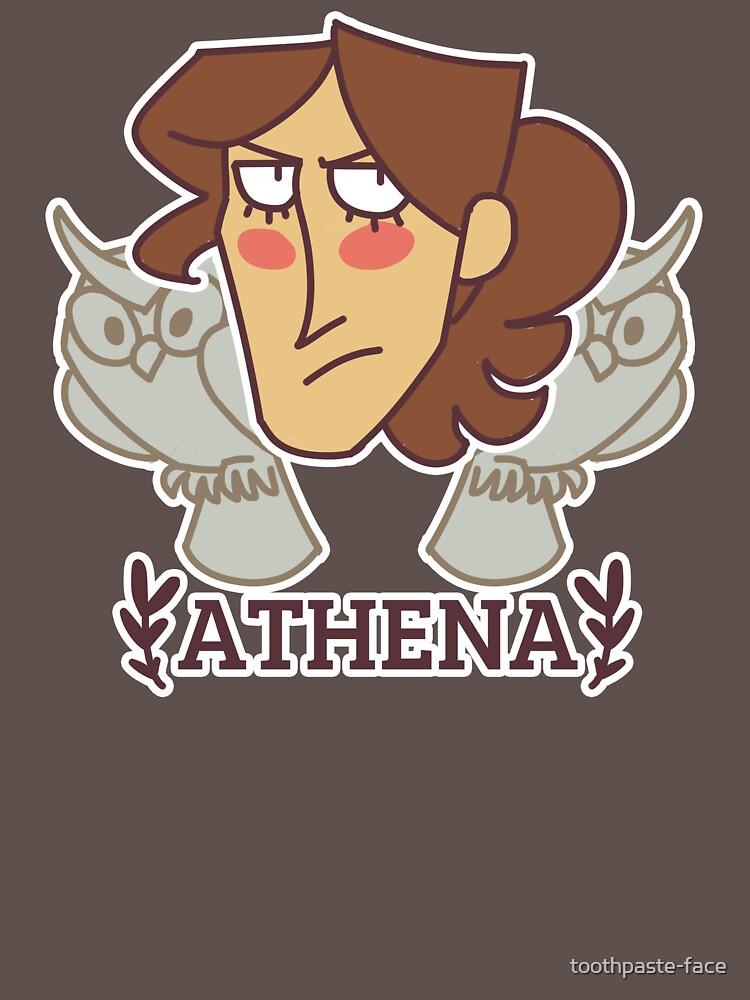 Holy Heads: Athena de toothpaste-face