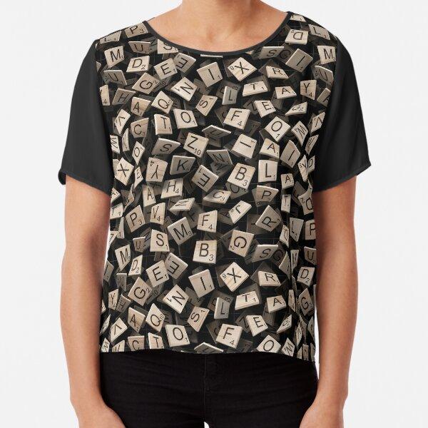 Scrabble Tile Madness Chiffon Top