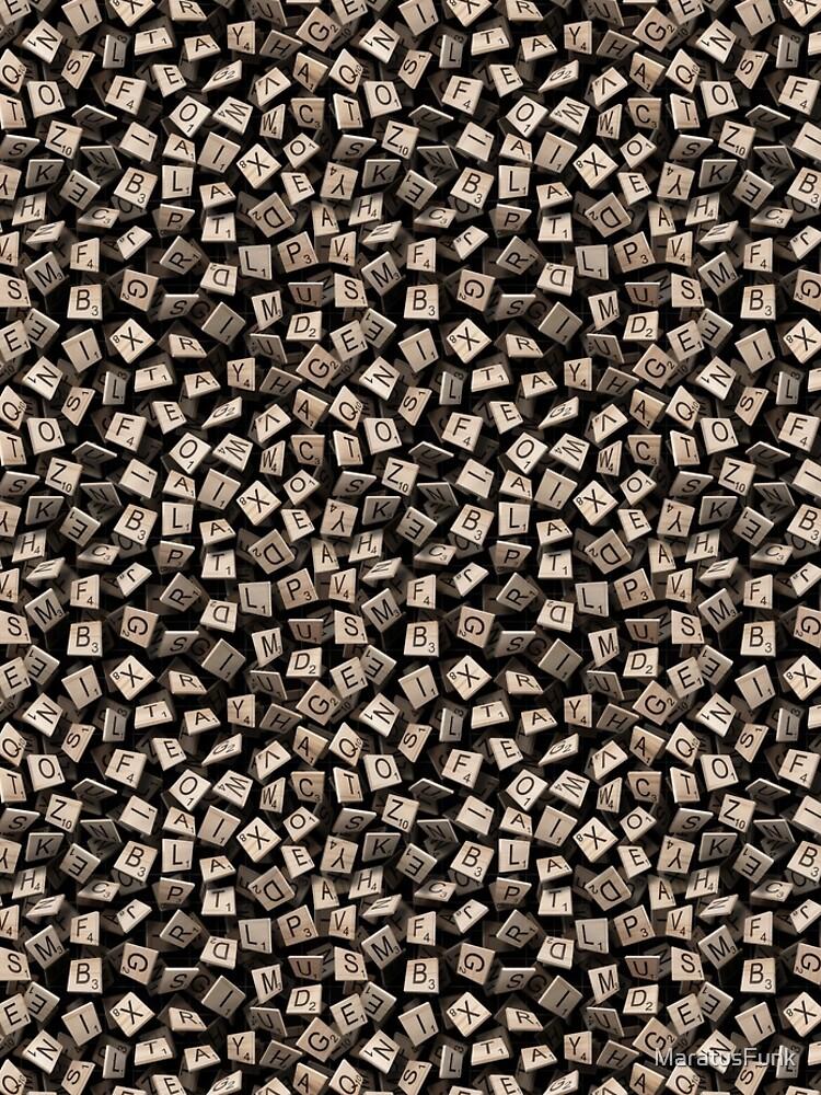 Scrabble Tile Madness by MaratusFunk
